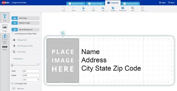 Need help customizing a template Averycom