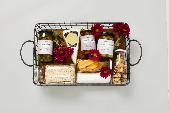 Create a gift basket full of your favorite grazing foods