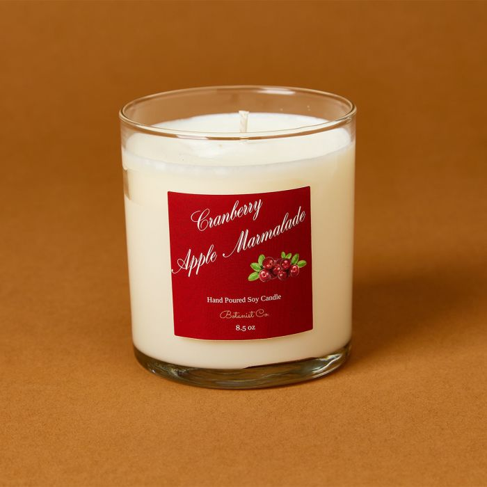 candle science cranberry apple marmalade fall candle scent featuring avery candle label