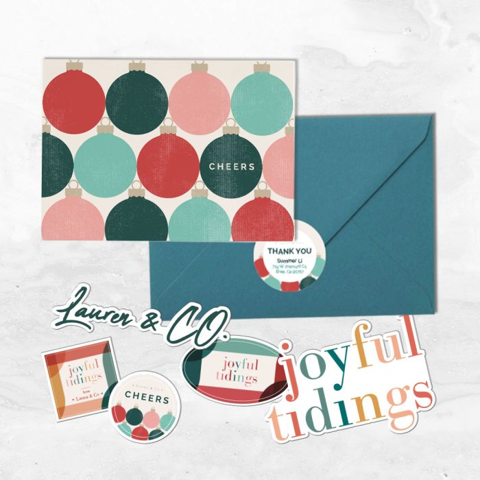 Add a star shaped sticker or label to packaging with holiday and christmas messaging