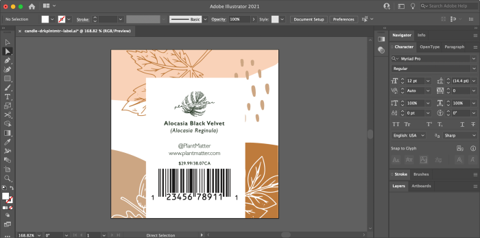 Adobe Creative Suite offers advanced tools for making product labels