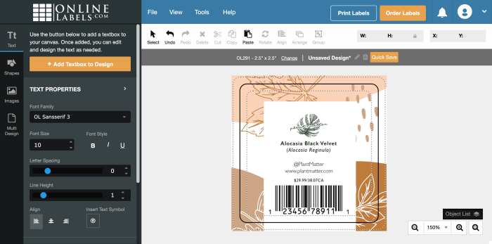 Use Maestro Label designer if you order from online labels. Purchase required