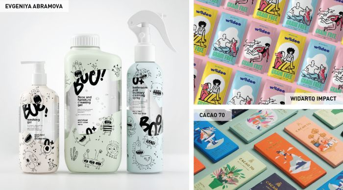 Graphics and illustrations are another popular custom packaging design