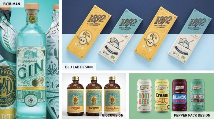 Try the popular vintage style branding for your custom packaging