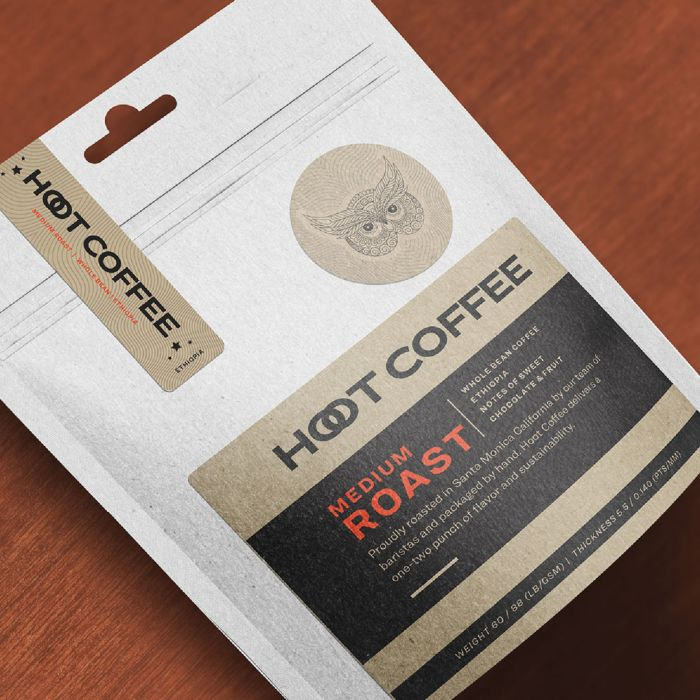 Try Avery kraft brown labels for an organic, vintage look