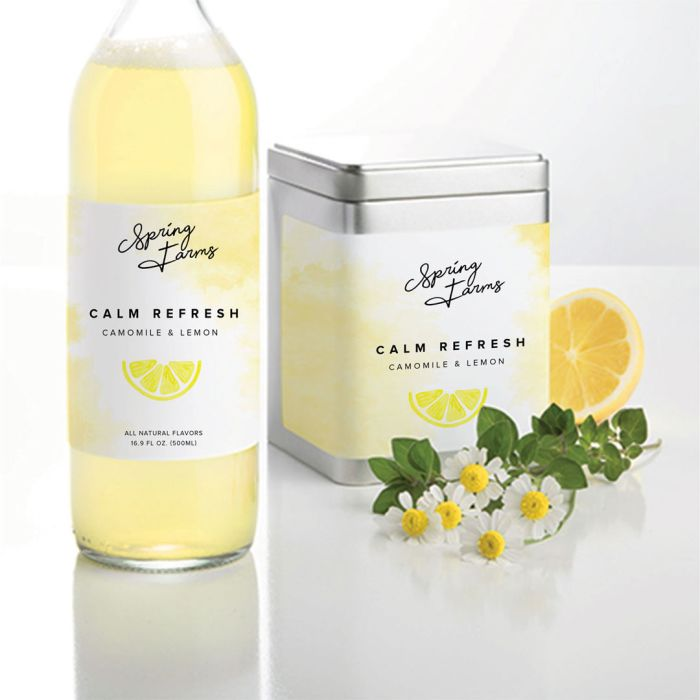 Matte white paper labels from Avery are great for splashes of color