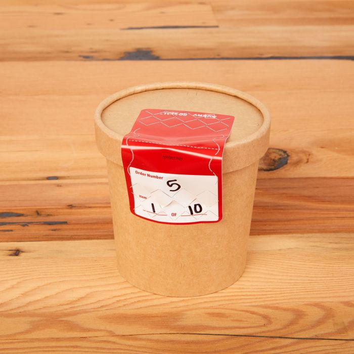 Matte white paper safety seals & tamper-evident labels can be handwritten on with a ballpoint pen or permanent marker