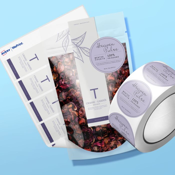 Custom printed roll labels and sheet labels are great for branding products and labeling packaging.