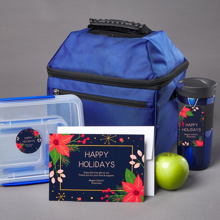Give clients and customers an travel lunch bag as an low-cost holiday gift