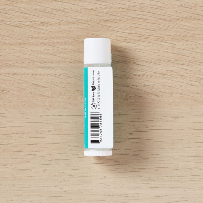 Press and secure you lip balm label.