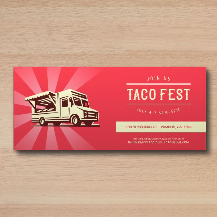 Create stunning invitations that can be mailed or handed out when you use custom rack cards.