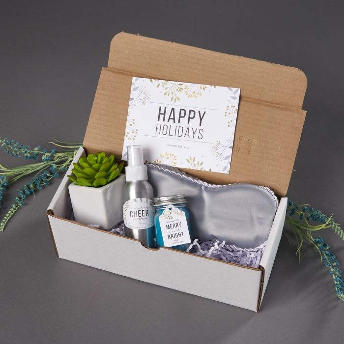 A spa day in a box is an ideal holiday gift for customers or clients