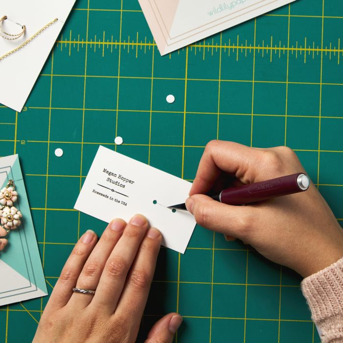 Make your own display cards for rings and other jewelry using these steps.