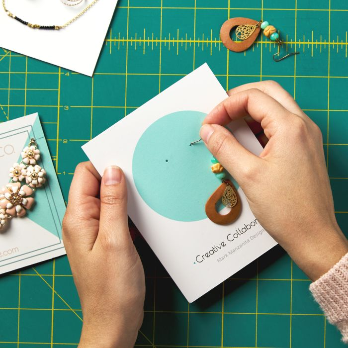 Make your own earring cards or custom jewelry cards using Avery products and free templates