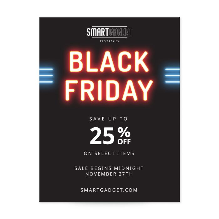 """Black Friday sales template for 4.25"""" x 5.5"""" postcards"""