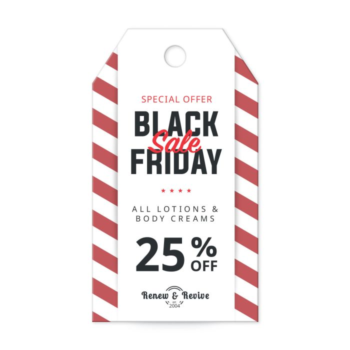 """Black Friday template for 3-1/2"""" x 2"""" Tag"""
