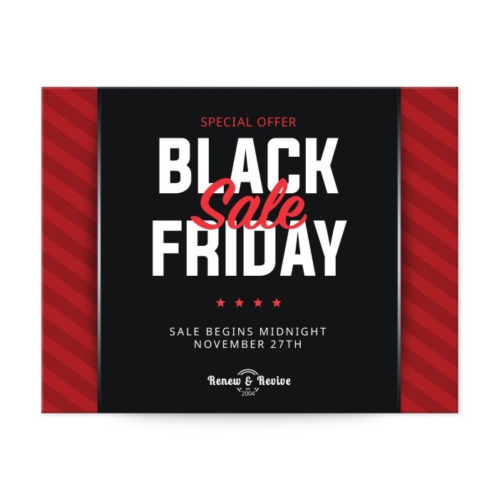 """Black Friday Sale template for 4-1/4"""" x 5-1/2"""" postcard"""