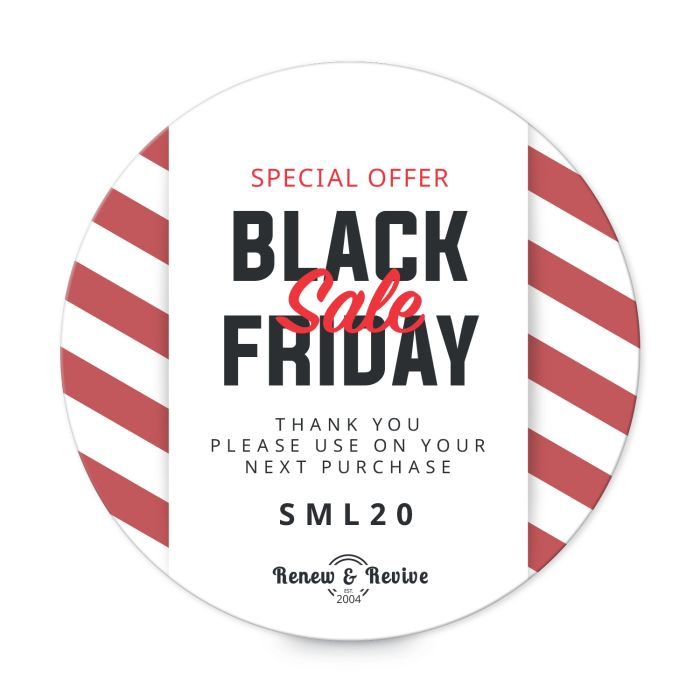 """Black Friday 2"""" round label template"""