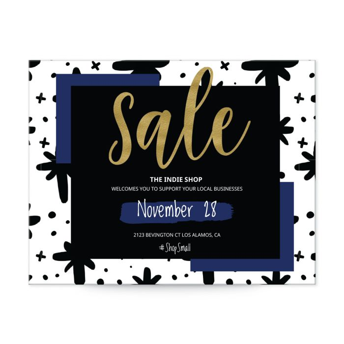 """Small Business Saturday template for 4-1/4"""" x 5-1/2"""" postcards"""
