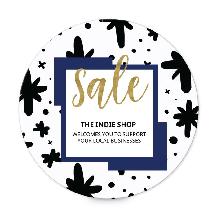 """Small Business Saturday Sale template for 2"""" round labels"""