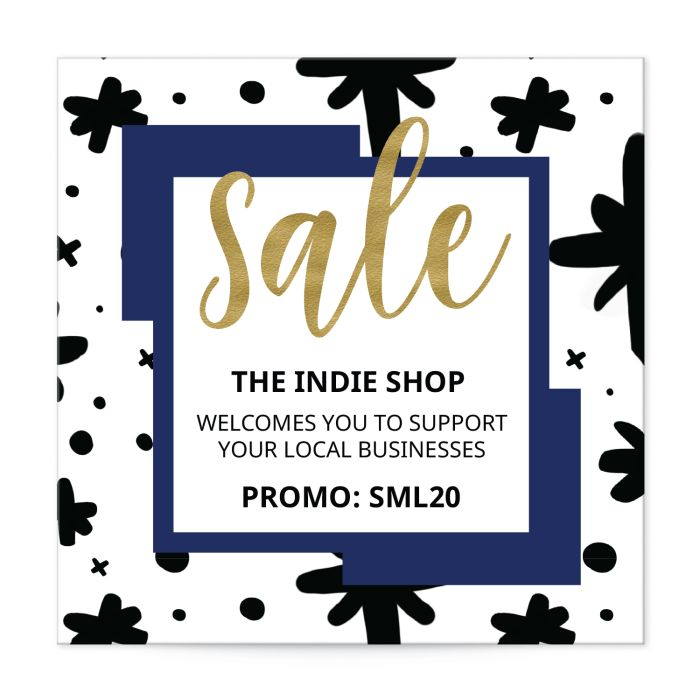 """Small Business Saturday 2"""" square template for labels"""