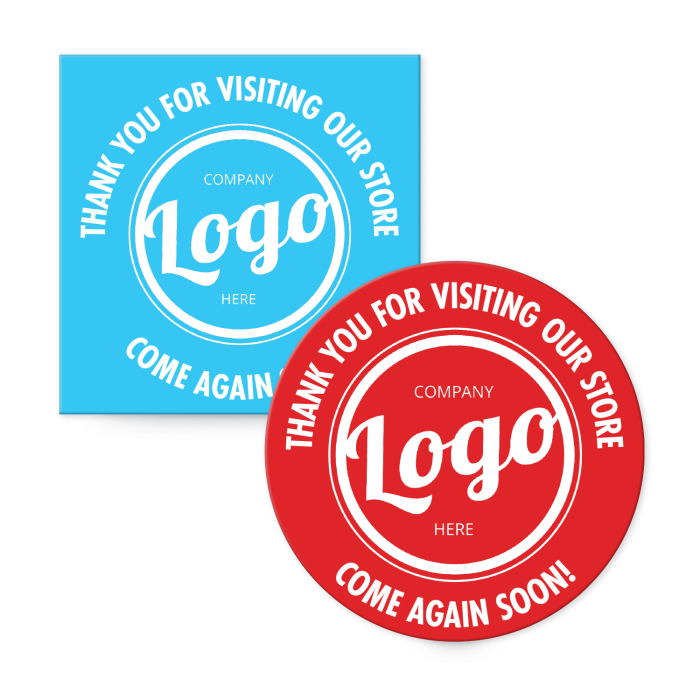 Add your logo to custom floor decals for extra branding