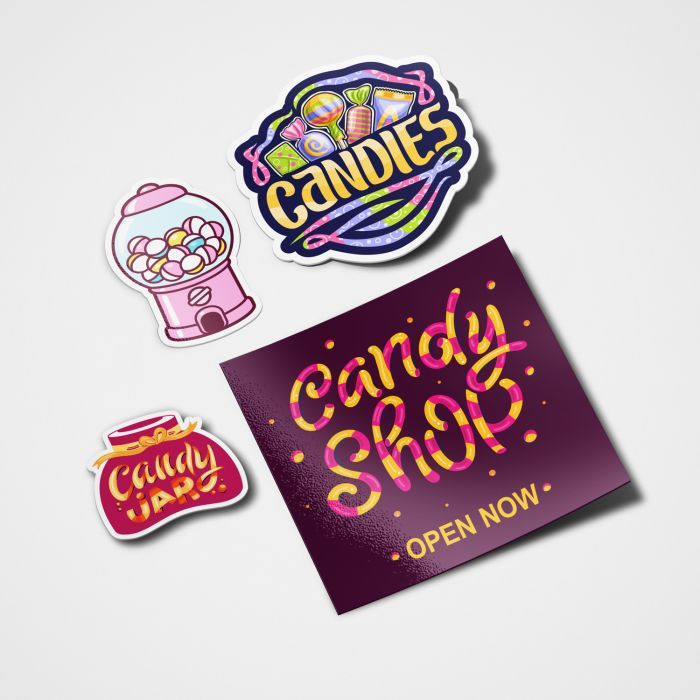 Give away stickers at your grand opening or other special event to promote your business.