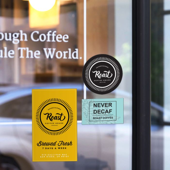 Use window stickers & decals to lure in customers from outside