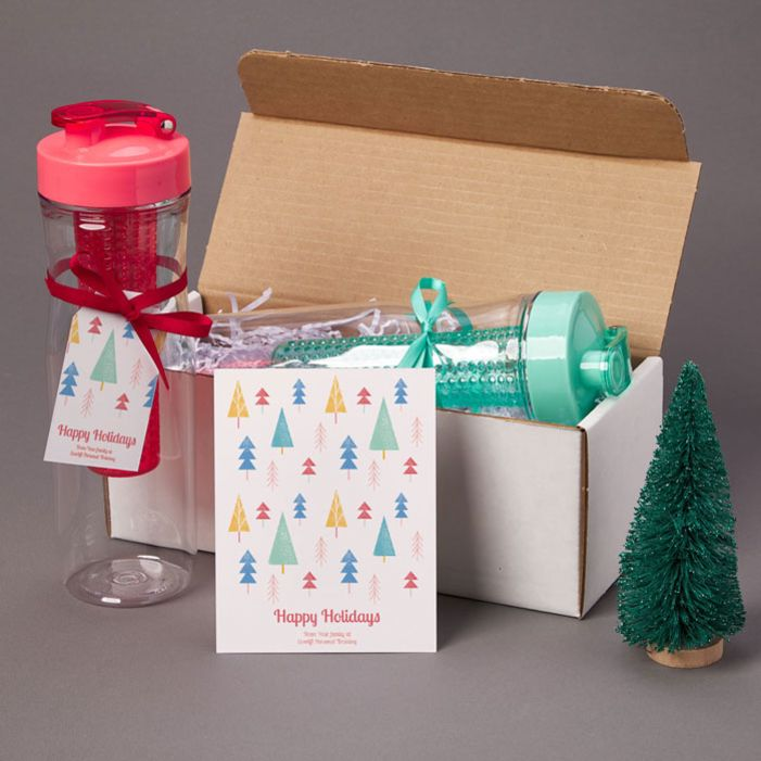 Ecofriendly gifts such as reusable bottles are a great to give to customers and clients.