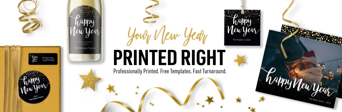 Your New Year Printed Right. Professionally Printed. Free Templates. Fast Turnaround.