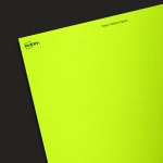 Neon Yellow Paper - Industrial Blank Sheet Labels