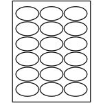 Print-to-the-Edge Oval Labels (1-1/2 inch x 2-1/2 inch) | Avery Template Line Art