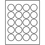 Round Labels (1-2/3 inch diameter) | Avery Template Line Art