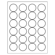 Template for Avery 5293 High Visibility Round Labels 1-2/3\