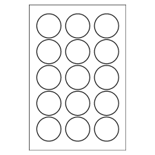 print or write mailing seals - 1 Inch Circle Template