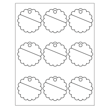 Template 80503 Scallop Tags