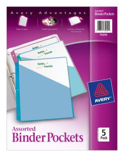 avery binder pockets 5 pockets assorted colors 75254 avery com