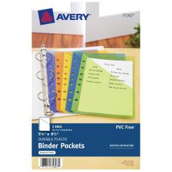 avery mini binder pockets 5 pockets assorted colors 75307 avery com