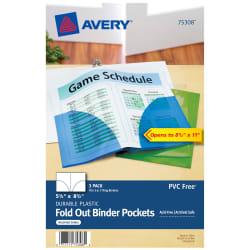 mini full sheet binder pockets