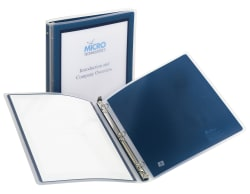 "avery flexi-view™ 1/2"" binder 100-sheet capacity, navy blue, Presentation templates"