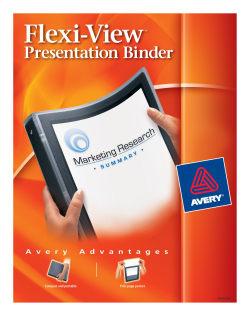 avery flexi-view™ binder 100-sheet capacity, black (15767, Presentation templates