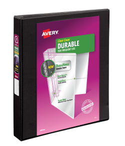 avery durable view binder 220 sheet capacity black 17011 avery com