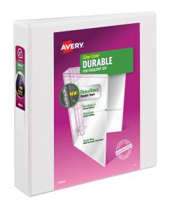 avery durable view binder 375 sheet capacity white 17022 avery com