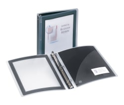 avery flexi view binder 275 sheet capacity black 17637 avery com
