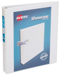 avery showcase economy view binder 175 sheet capacity white 19601