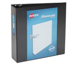 avery showcase economy view binder 460 sheet capacity black 19750