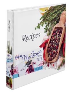 avery my recipe binder 220 sheet capacity epicurean 19802 avery com
