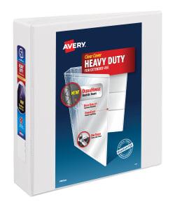 avery heavy duty view binder 540 sheet capacity white 79192