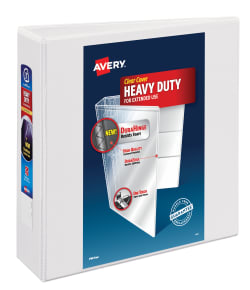 avery heavy duty view binder 670 sheet capacity white 79193