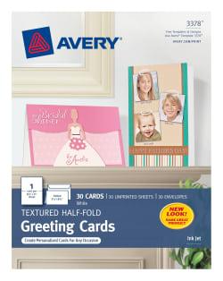 Textured Half Fold Greeting Cards
